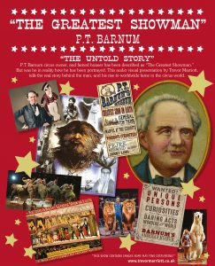 """Poster advertising """"The Greatest Showman - P.T. Barnum The Untold Story"""""""